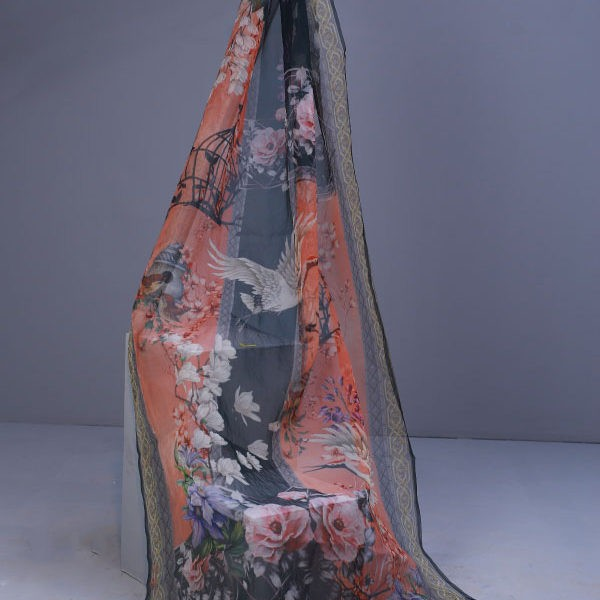Pigeon Floral Dupatta - Latest Collection For Women - Nayalish
